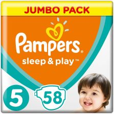 Pampers Sleep And Play Junior 11-25 Kg. Jumbo Pack 58 Szt.