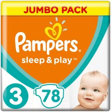 Pampers Pieluchy Sleep&Play 3 Jumbo Midi 78 Szt
