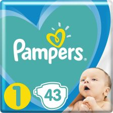 Pampers New Baby-Dry 1 Newborn (2-5kg)  43 szt.