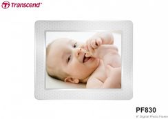 "Transcend LCD 8"" PF830 2GB White Digital Photo Frame (TS2GPF830W)"