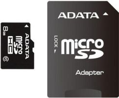 A-DATA microSDHC 8GB Class 10 + SDHC Adapter (AUSDH8GCL10-RA1)