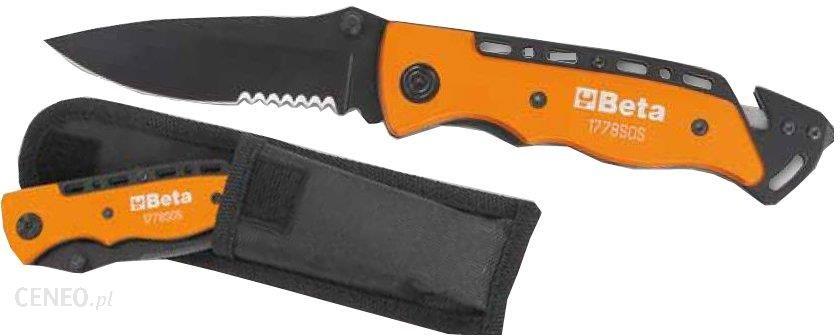 BETA Nóż samochodowy z funkcją przecinania pasów i końcówką do zbijania szyb BE1778SOS