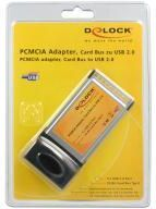DeLOCK USB 2.0 - 4x - PCMCIA card (61234)