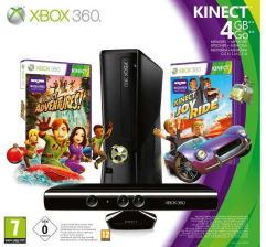 Microsoft Xbox 360 4GB + Kinect + Gra Adventures i Joy Ride