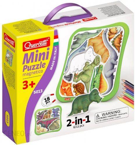 Quercetti Puzzle Magn. Mini Dinozaury 5013