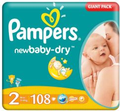 Pampers Active Baby 2 Mini Economy Pack 108Szt