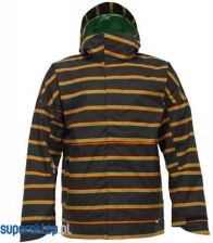 Kurtka snowboardowa Burton Launch (true black / marcos stripe)