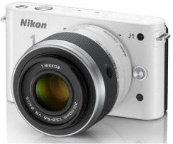 Nikon 1 One J1 + 10-30 mm + 30-110 mm biały