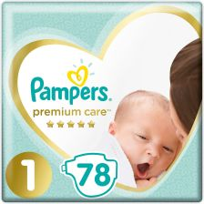 Pampers Premium Care Newborn 1 Mini (2-5 Kg) 78 Szt.