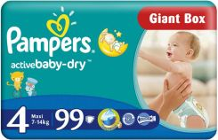 Pampers Active Baby Maxi 4, 7-14Kg 99 Szt