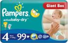 Pampers Active Baby-Dry 4 Maxi (7-14kg) 99szt. - zdjęcie 1