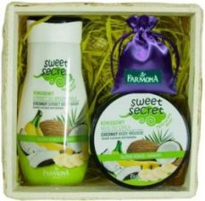 Farmona Sweet Secret kokosowy sorbet do mycia ciała 225 ml + kokosowy mus do ciała 225 ml spray