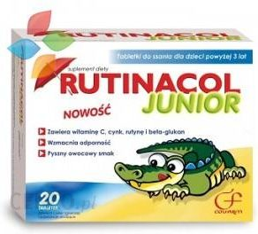Rutinacol Junior, Tabl., Do Ssania, 20 Szt