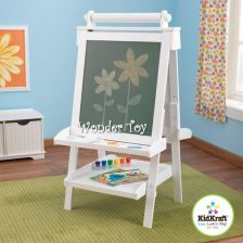 KidKraft Tablica do rysowania Wooden Adjustable Easel White 62040