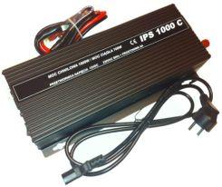 AZO IPS 1000C/12 Przetwornica napięcia 700W / 1000W, 12V / 230V z prostownikiem 8A