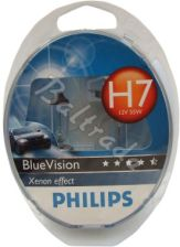 2x Philips H7 BlueVision Xenon Effect