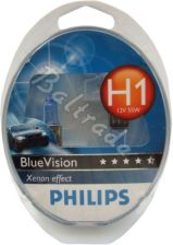 2x Philips H1 BlueVision Xenon Effect