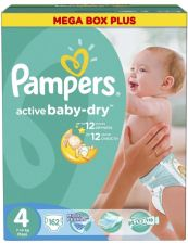 Pampers Active Baby-Dry 4 Maxi (7-14kg) 162szt.