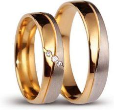 Obrączki ślubne z brylantami Platinum Style PS63 BR