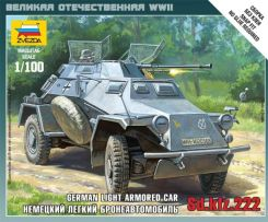 Zvezda Sd.Kfz.222 German Light Armored (MzV-6157)