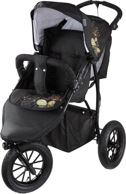 Knorr-Baby Joggi S Black Fleury Spacerowy