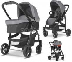 Graco Evo Charcoal Głęboko-Spacerowy + Fotelik Junior Baby