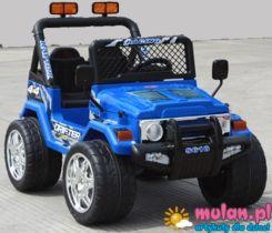 Mario Jeep Raptor Dwuosobowy 2 Silniki 2 Akumulatory + Pilot Dla Rodzica Niebieski