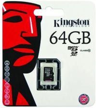 Kingston MicroSDXC 64GB class10 (SDCX10/64GB)