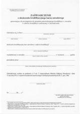 Druk zaświadczenie o ukończeniu kwalifikacyjnego kursu zawodowego (155NN)