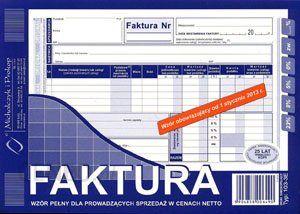 FAKTURA VAT A5 103-3E PEŁNA