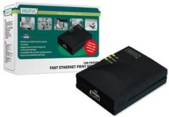 DIGITUS FAST ETHERNET PRINT SERVER ,USB,1 X (DN-13003-W)