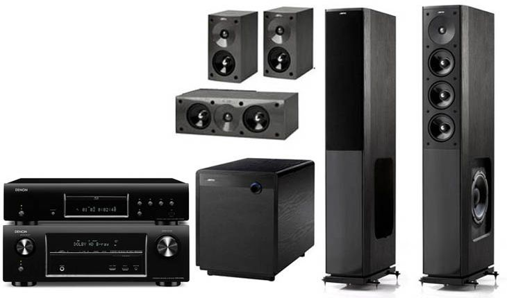 DENON AVR-X2000 + DBT-1713 + JAMO S 608 HCS3 + SUB 360