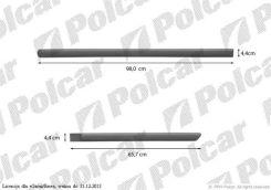 Listwy Boczne KPL Czarna,Uniwersalna,Dł 98,0 / 65,7 Cm Audi A4 [B5] Sdn 94-98/Avant 94-98 (E99Ablbp430)