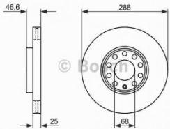 BOSCH - 288x25 V 5-OTW AUDI A3 / A4 / A6 / SEAT EXEO / VW PASSAT