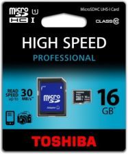 Toshiba microSD SDHC 16GB class 10 + adapter (SD-C016UHS1(BL5A)