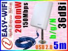 EASY-WIFI ANTENA AKTYWNA WIFI SKY 5M USB INTERNET DO 10KM (63)