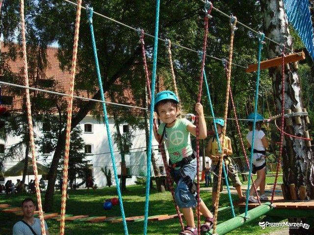 Przygoda w parku linowym dla dzieci w Kazimierzu Dolnym