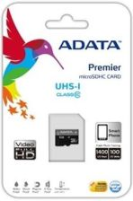 A-DATA ADATA micro SDHC UHS-I 16GB Video Full HD + SDHC Adapter (AUSDH16GUICL10-RA1)