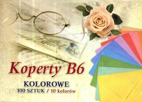 Pol-Mak Koperty Kolorowe B6 [494500]