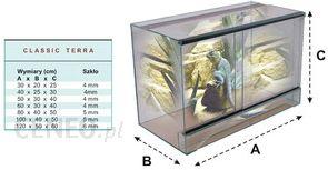 WROMAK Terrarium z siatką 60x30x40
