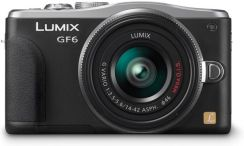 Panasonic DMC-GF6W czarny + 14-42 mm + 45-150 mm