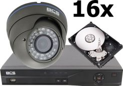 Bcs zestaw Do Monitoringu: Rejestrator -Dvr1601Se, 16 X Kamera -Dm705/Ir-W Ir Do 30 M, Dysk 500 Gb + Akcesroia