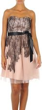 Manoukian Sukienki krótkie Lace and tulle Cynthia dress Black / Pink