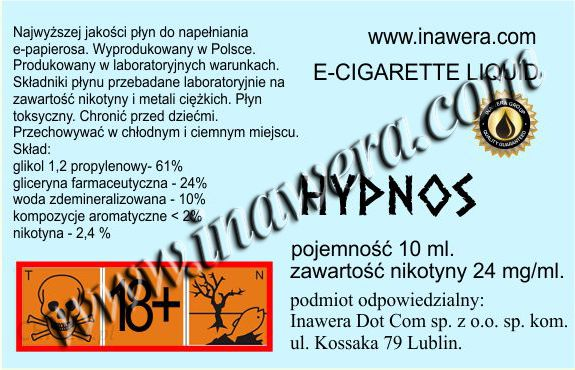 Inawera E-Liquid HYPNOS 12 12 mg/ml