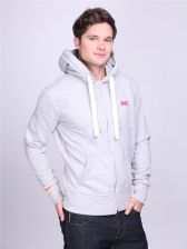Superdry Bluza Orange Label zip Hood jasnoszara rozm. M