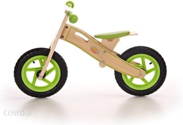 Baby Maxi Rowerek Biegowy Zielony Na Pompowanych Kołach