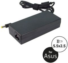 QOLTEC ZASILACZ DO NOTEBOOKA ASUS 19V | MAX 4.74 A, INPUT: 5.5X2.5 (7369.90W-AS)