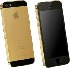 Telefon Apple iPhone 5S 24ct GOLD EDITION 16GB czarny - zdjęcie 1