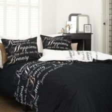 Bedding House Happiness Black 121606