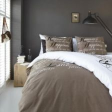 Bedding House Happiness Taupe 121602